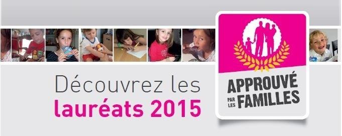 Lauréats 2015 Approuvé par les Familles